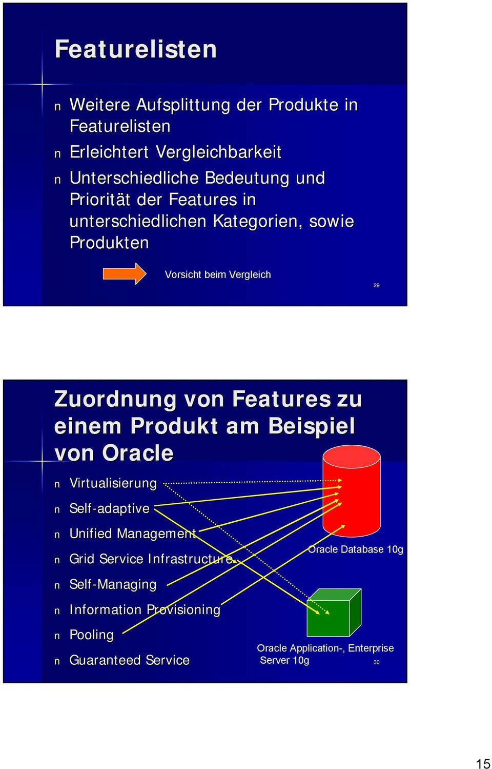 zu einem Produkt am Beispiel von Oracle Virtualisierung Self-adaptive Unified Management Grid Service Infrastructure