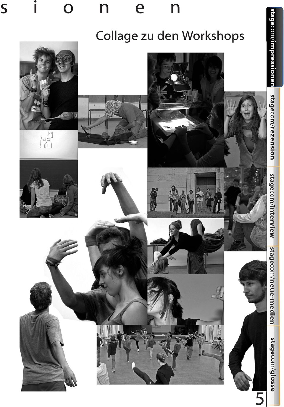 Collag zu dn Workshops