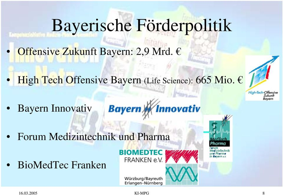 High Tech Offensive Bayern (Life Science): 665