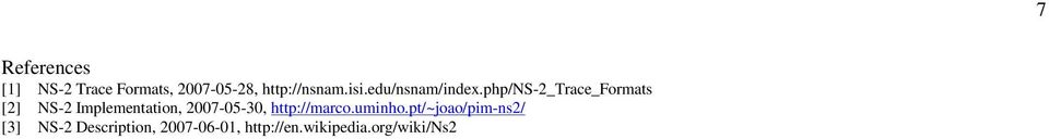 php/ns-2_trace_formats [2] NS-2 Implementation, 2007-05-30,