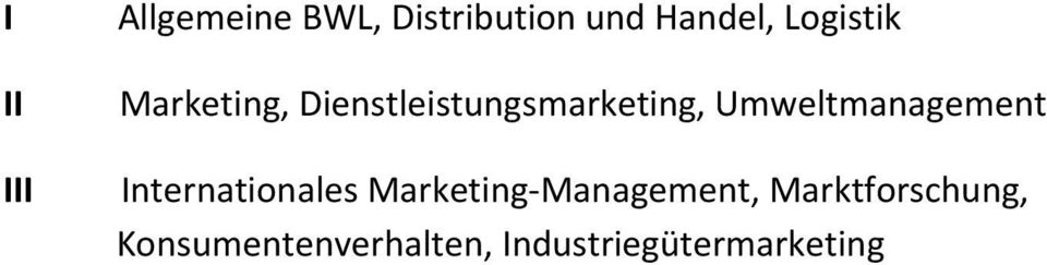 Umweltmanagement nternationales Marketing