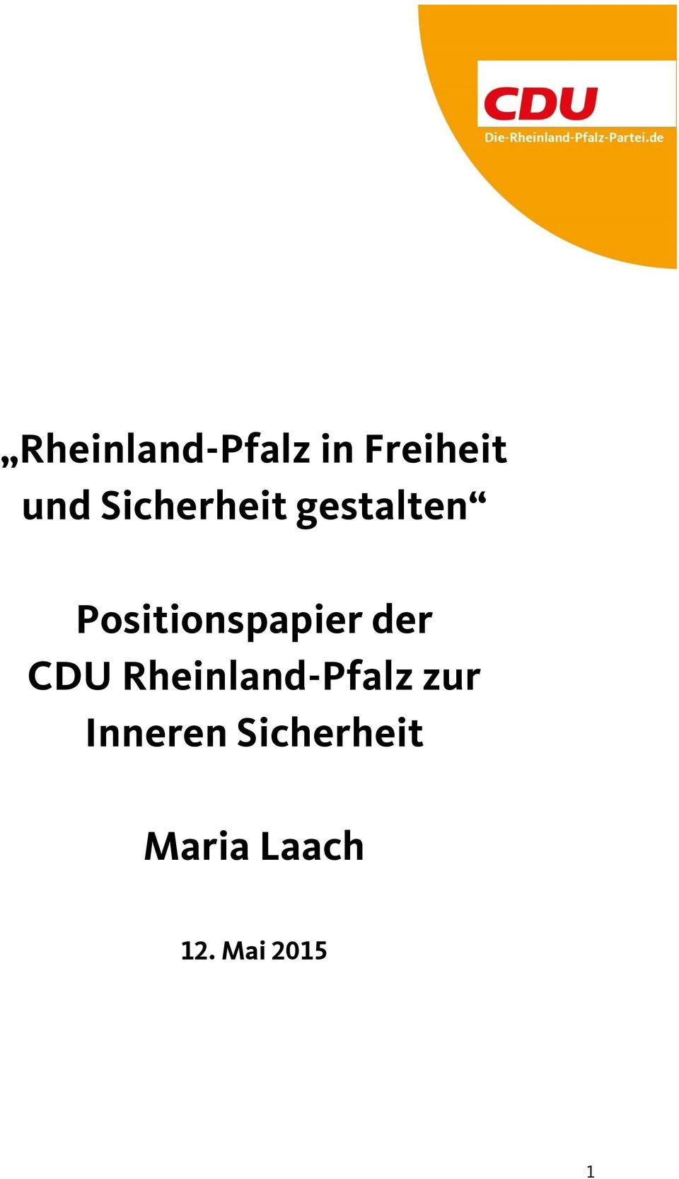 Positionspapier der CDU