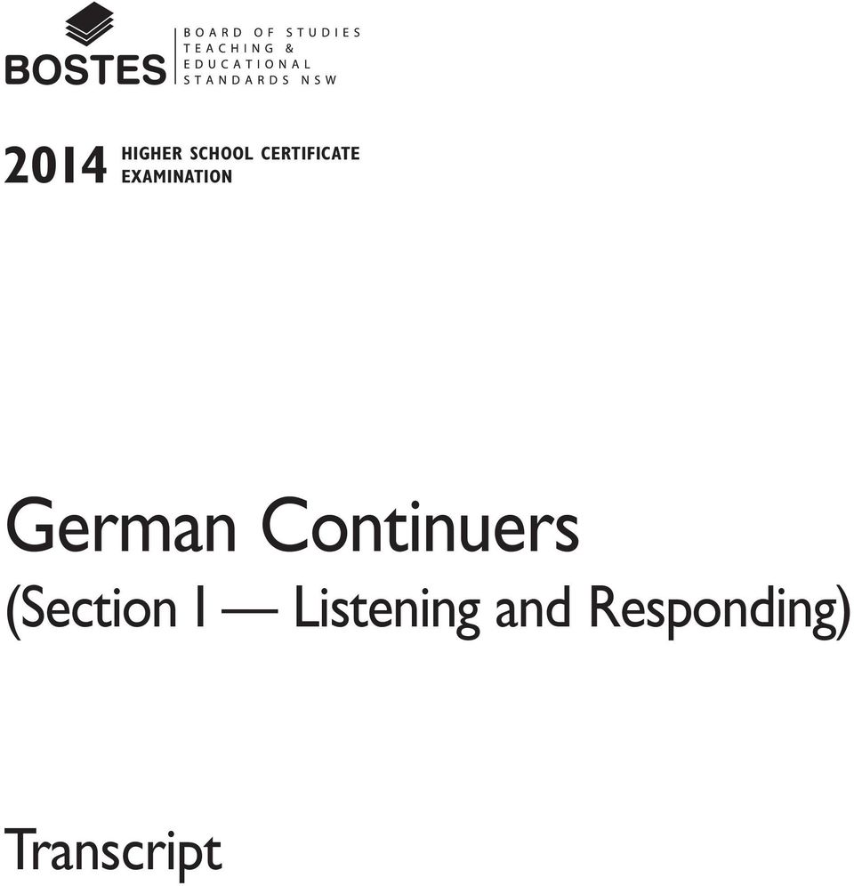 German Continuers (Section