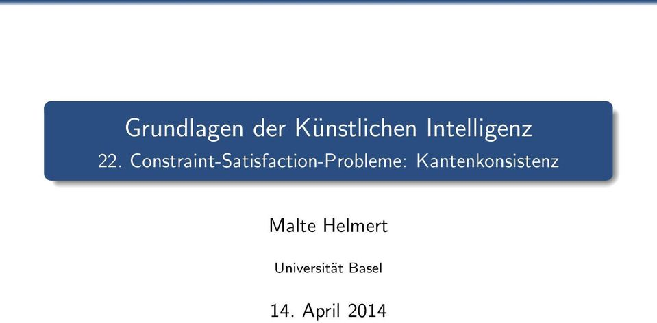 Constraint-Satisfaction-Probleme: