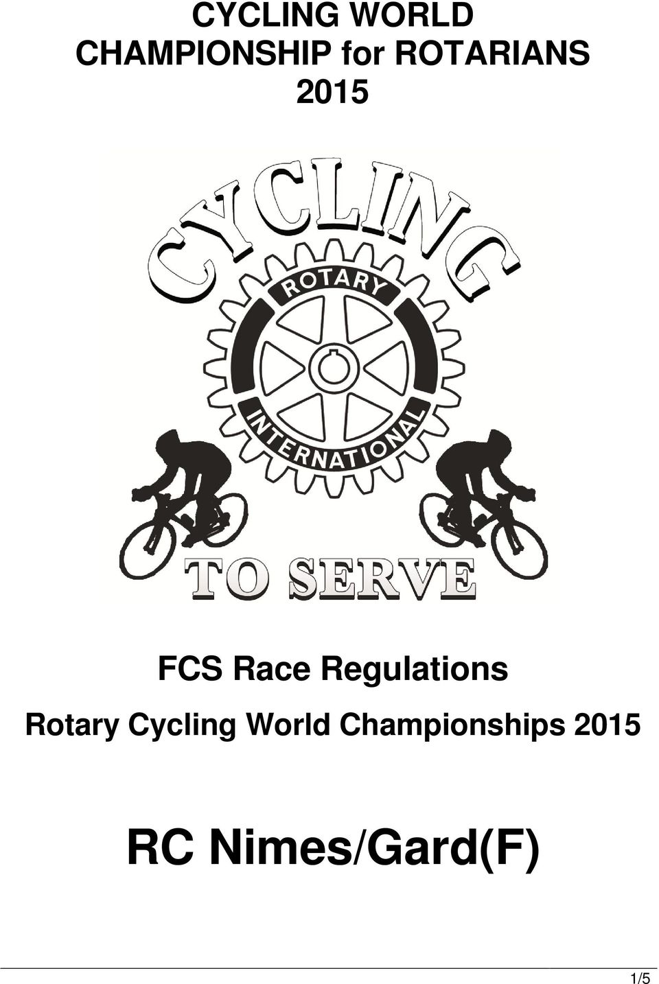 Regulations Rotary Cycling