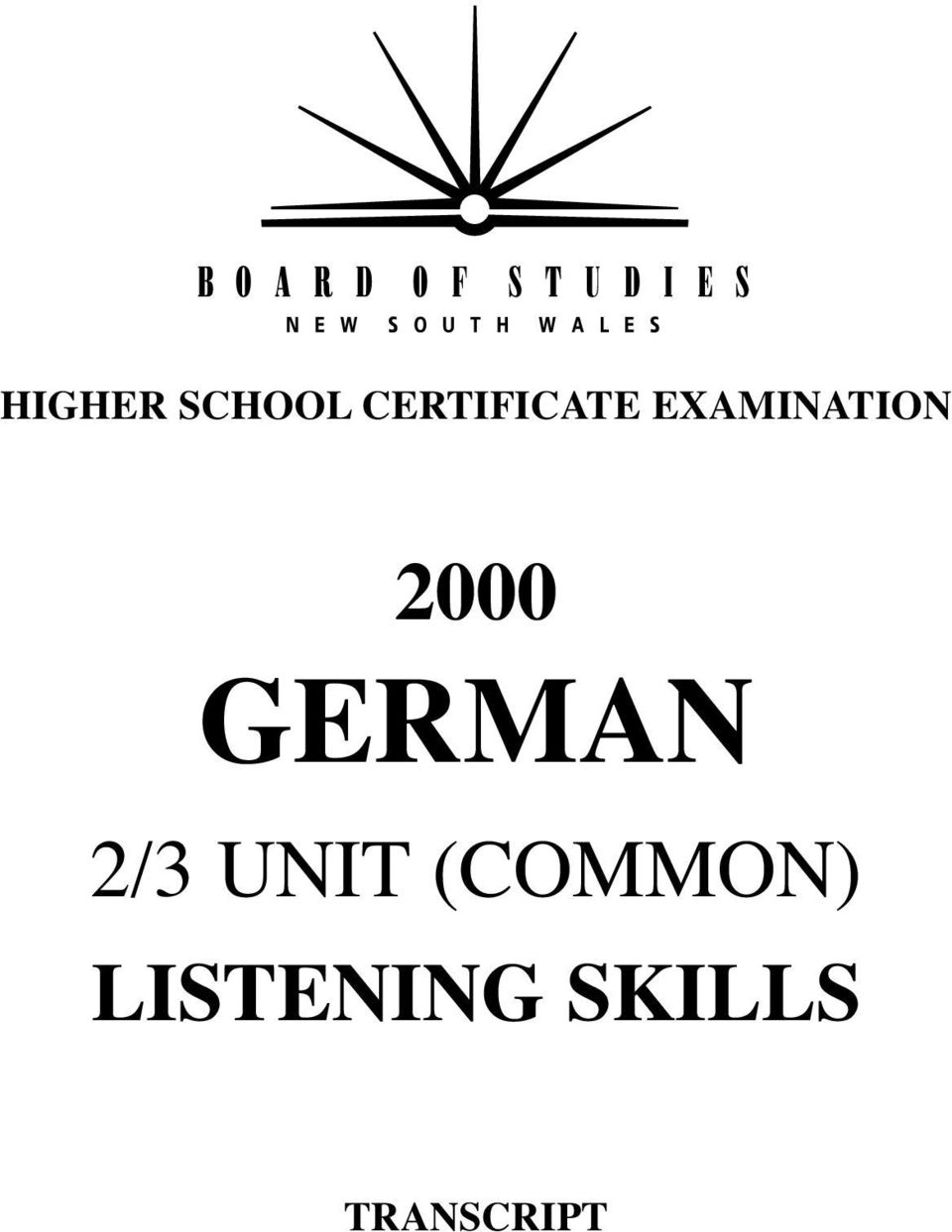 2000 GERMAN 2/3 UNIT