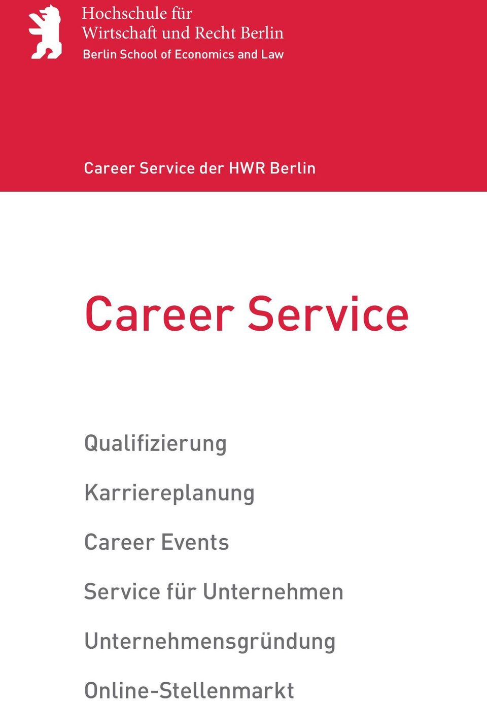 Service Qualifizierung Karriereplanung Career Events