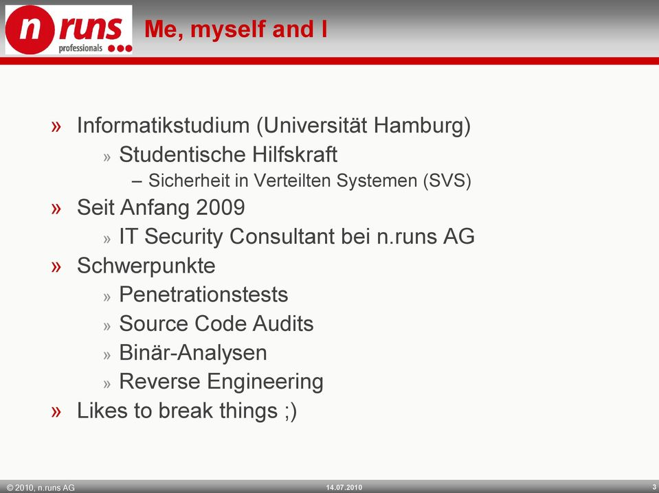 Security Consultant bei n.