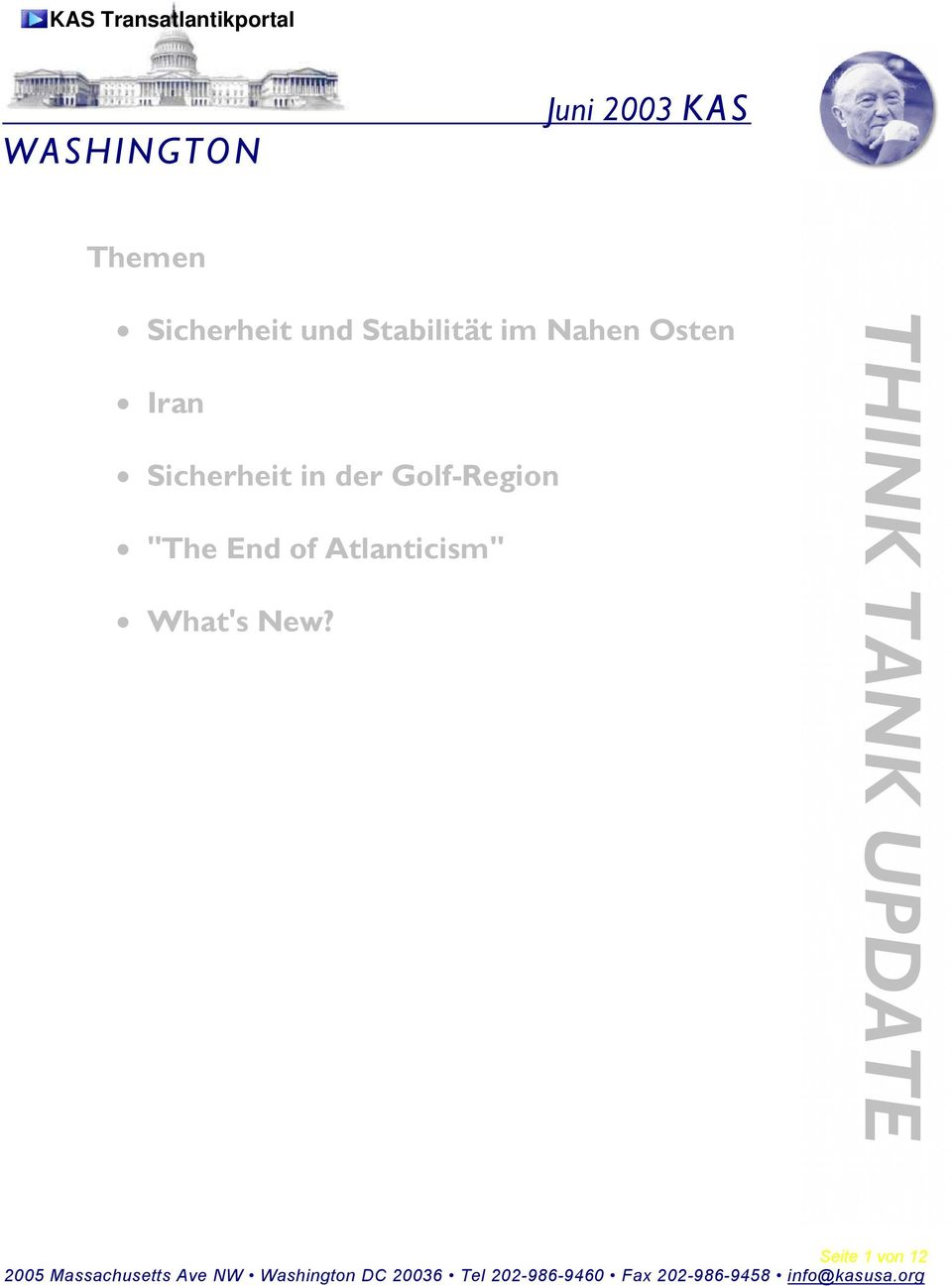 "Sicherheit in der Golf-Region ""The End of"