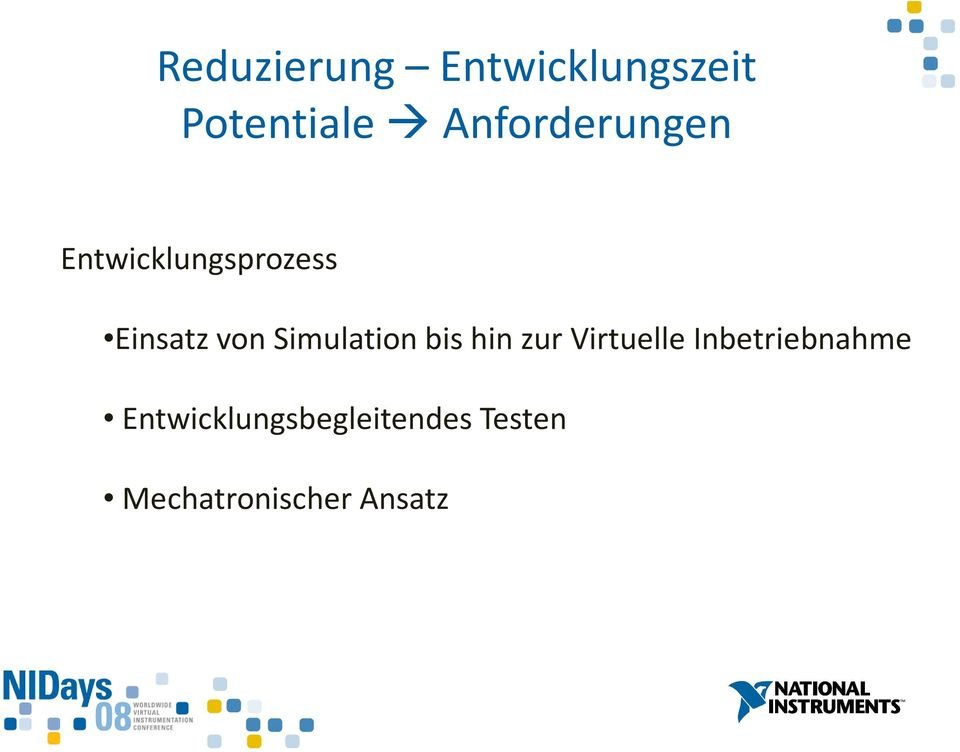 Simulation bis hin zur Virtuelle