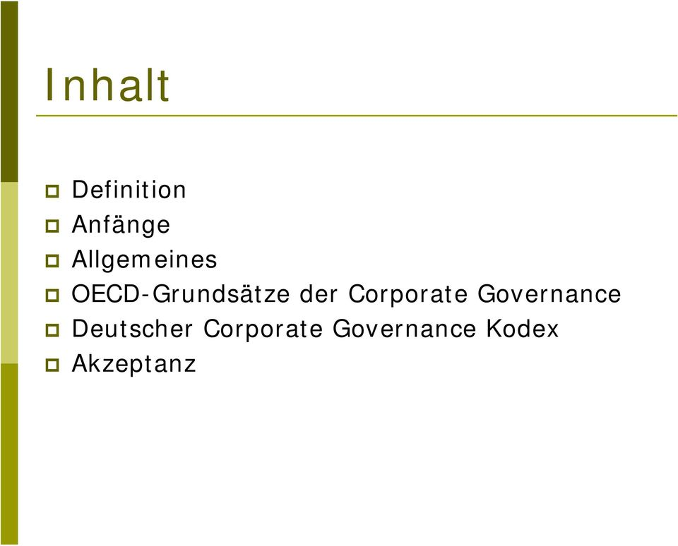 Corporate Governance Deutscher