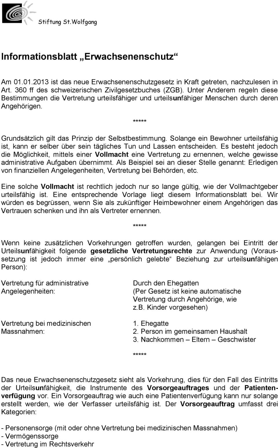 Stiftung Stwolfgang Alfons Aeby Strasse Düdingen Tel Fax Pdf