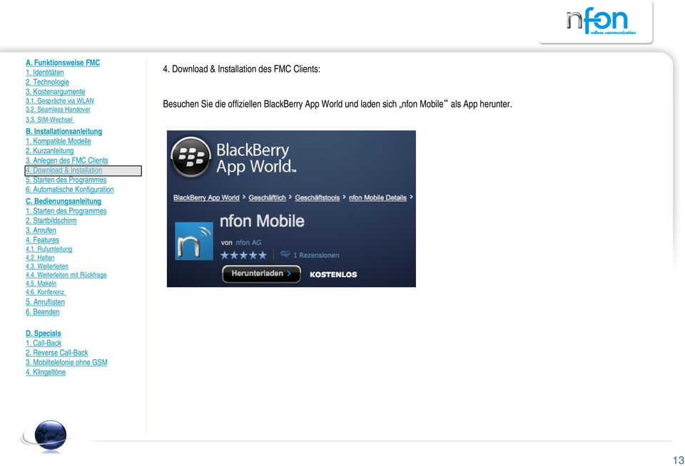 BlackBerry App World und