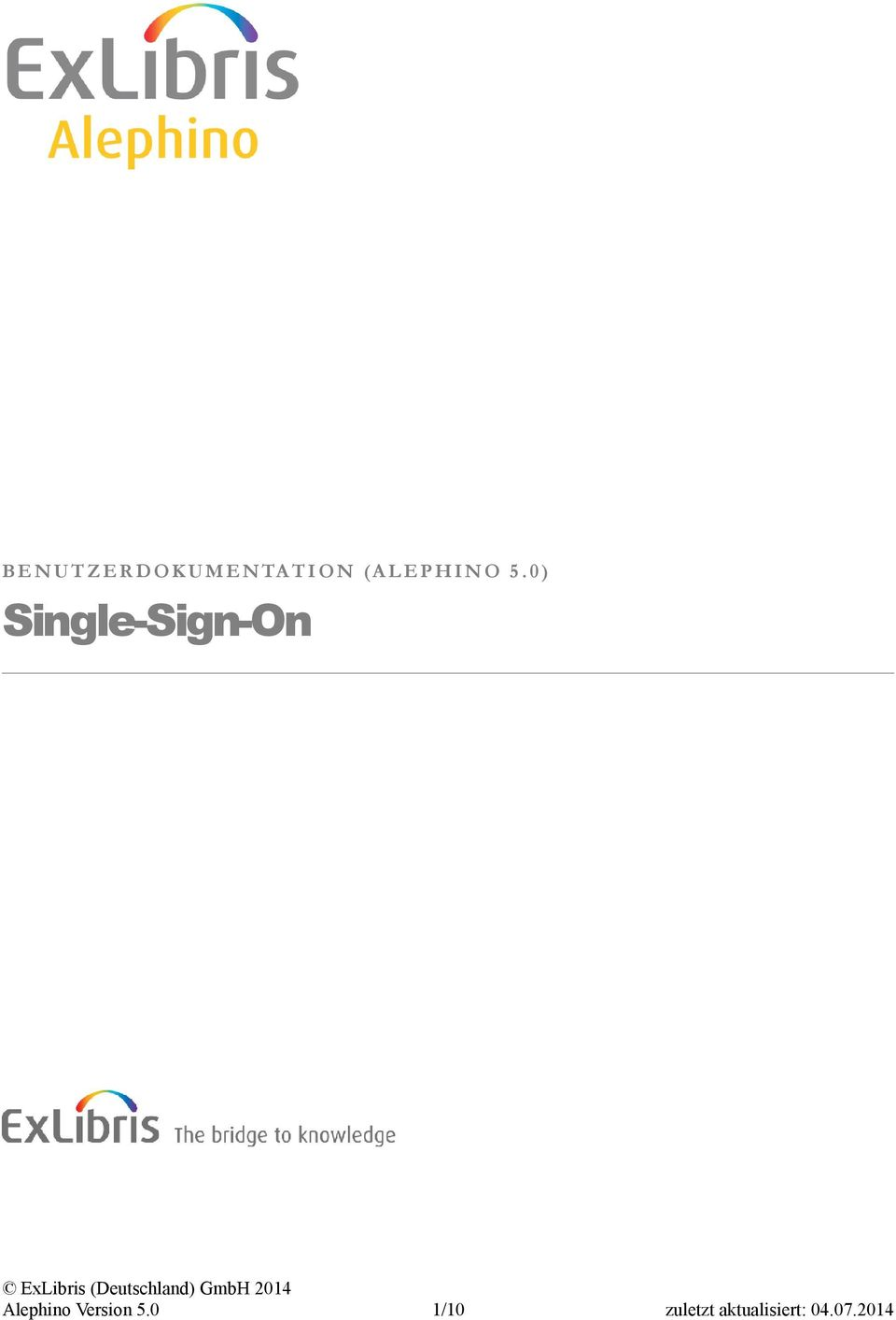 0 ) Single-Sign-On Alephino
