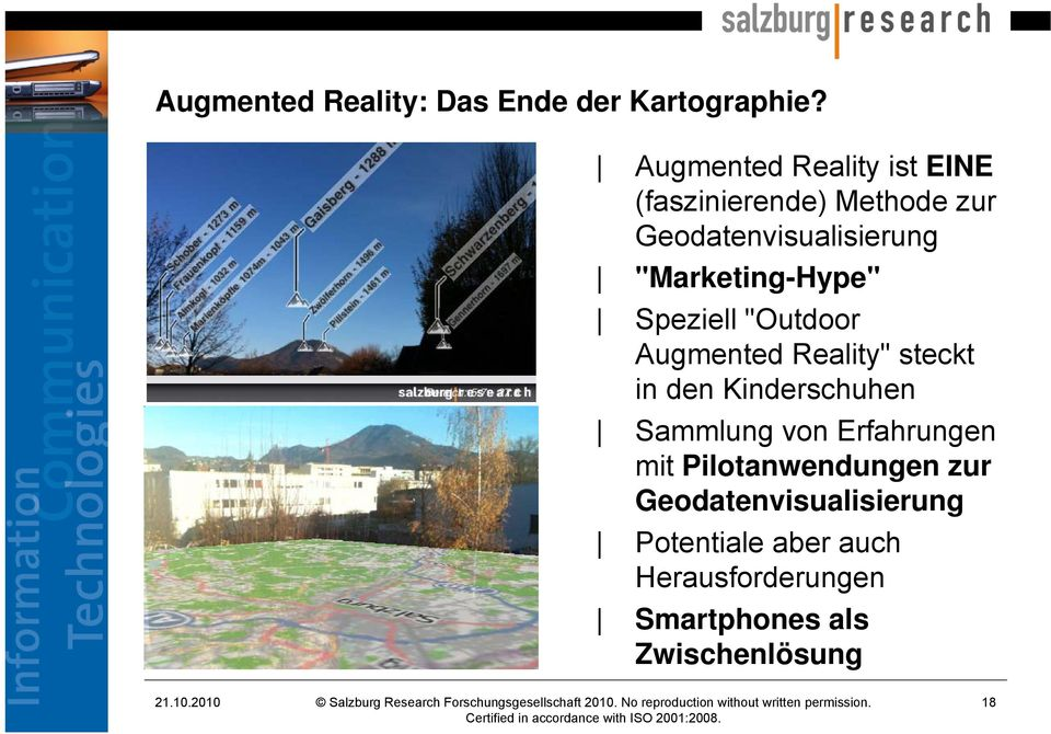 """Marketing-Hype"" Speziell ""Outdoor Augmented Reality"" steckt in den Kinderschuhen"