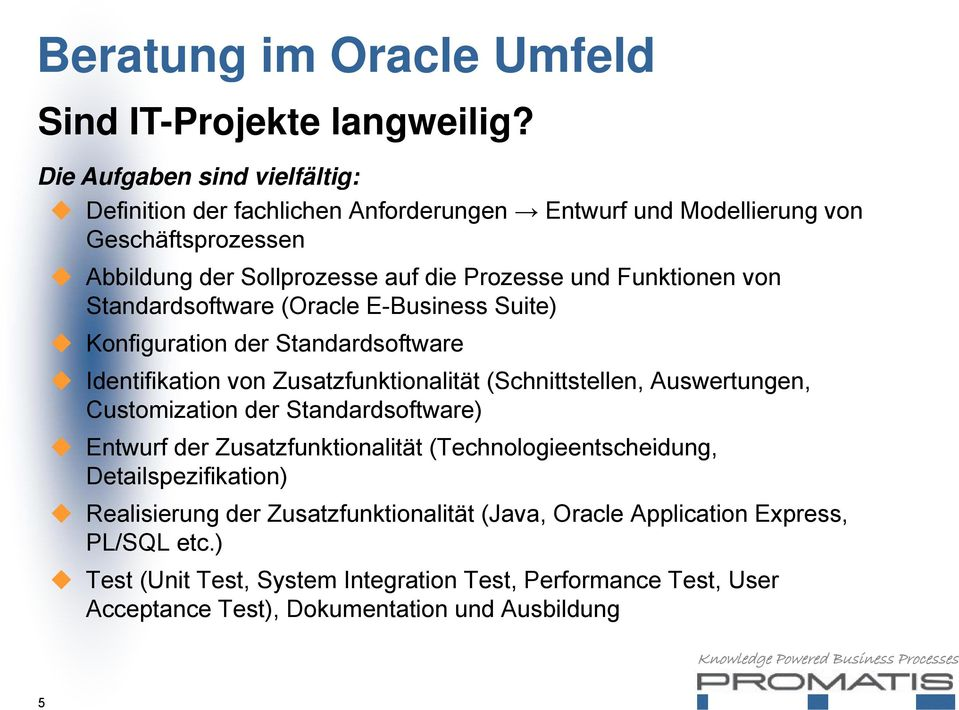 Funktionen von Standardsoftware (Oracle E-Business Suite) Konfiguration der Standardsoftware Identifikation von Zusatzfunktionalität (Schnittstellen, Auswertungen,