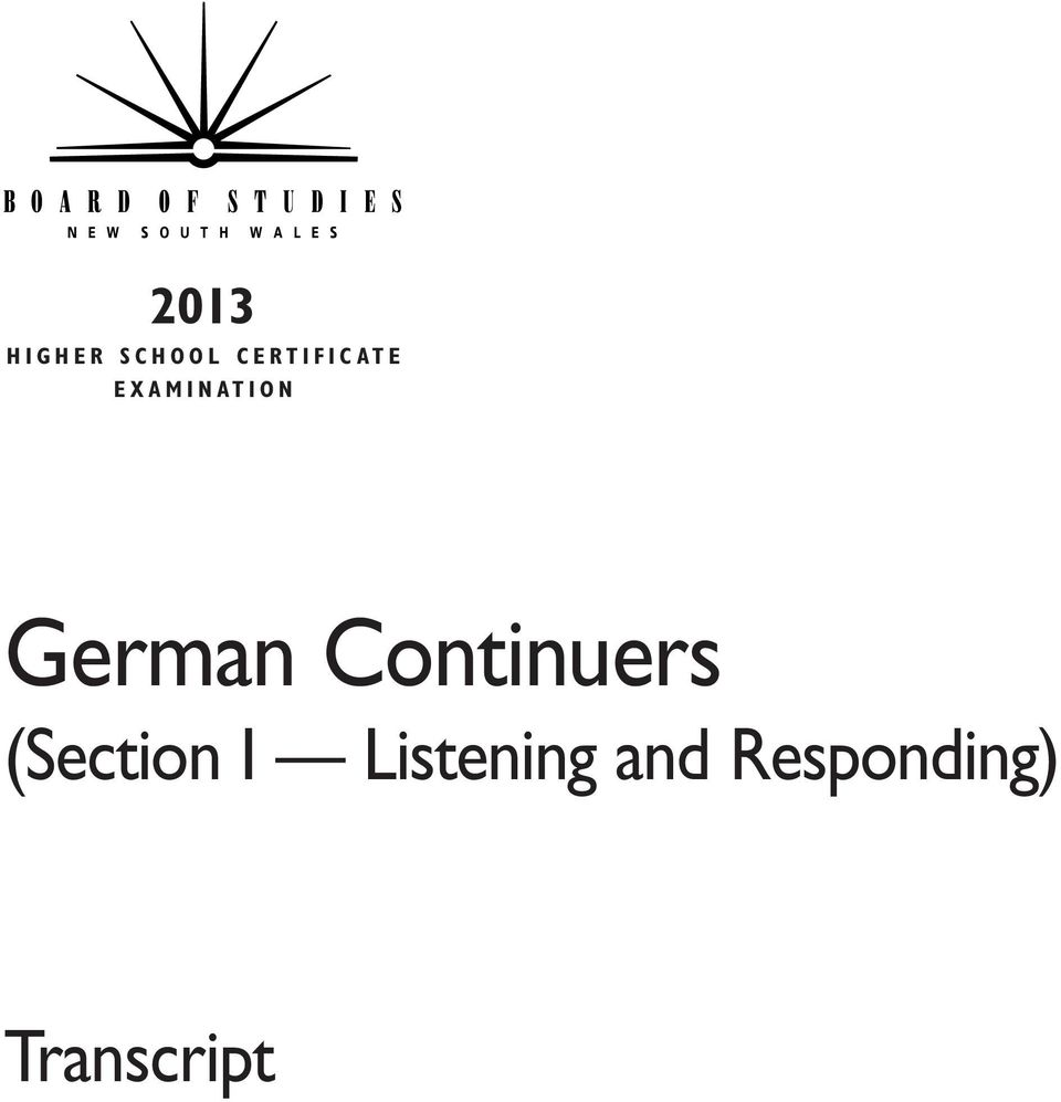 O N German Continuers (Section I