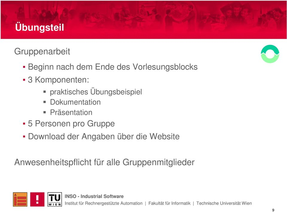 Dokumentation Präsentation 5 Personen pro Gruppe Download