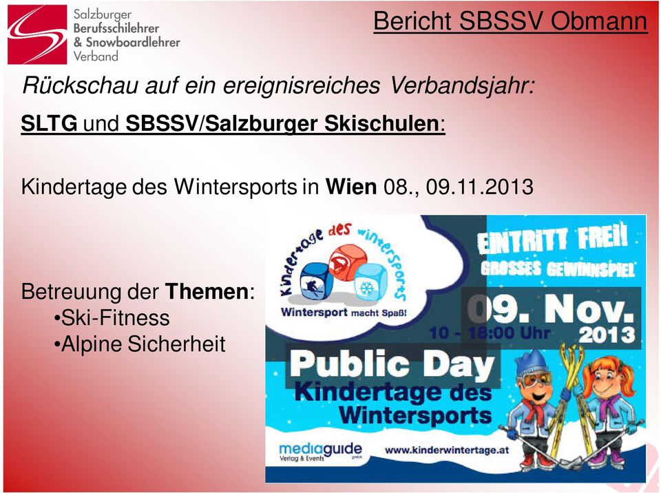 Kindertage des Wintersports in Wien 08., 09.11.