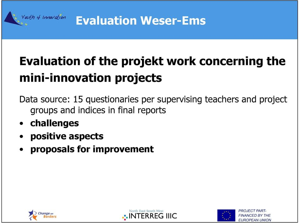 per supervising teachers and project groups and indices