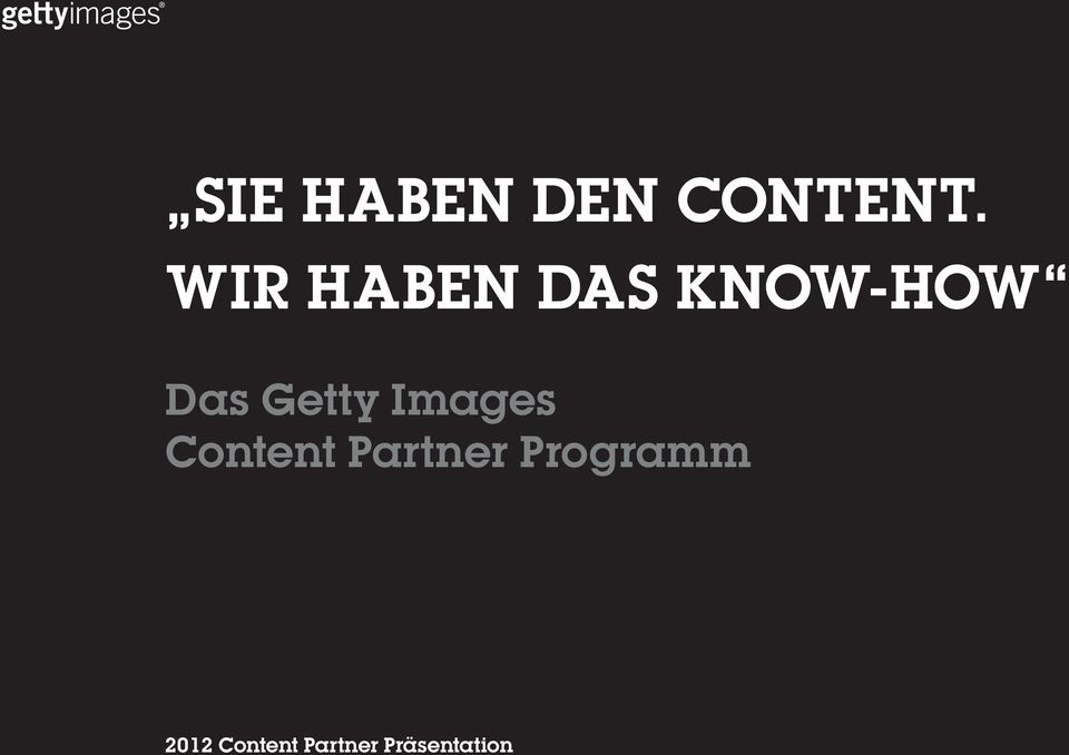 KNOW-HOW Das Getty