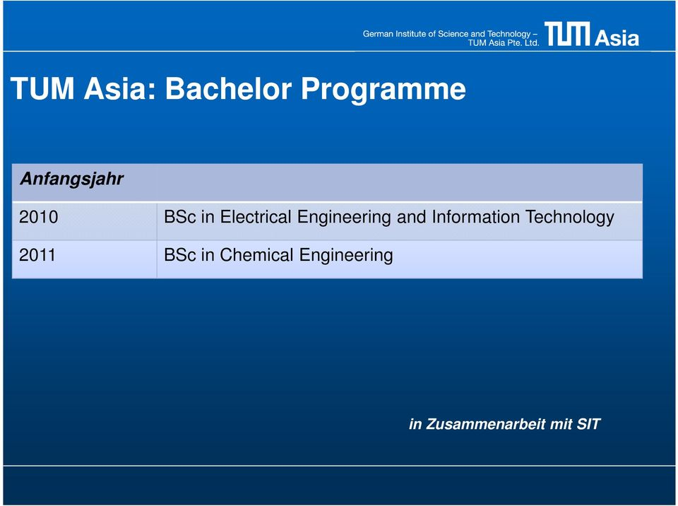 Information Technology 2011 BSc in