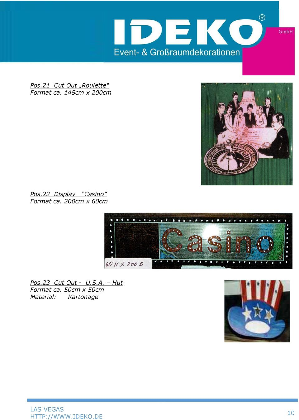 22 Display Casino Format ca.