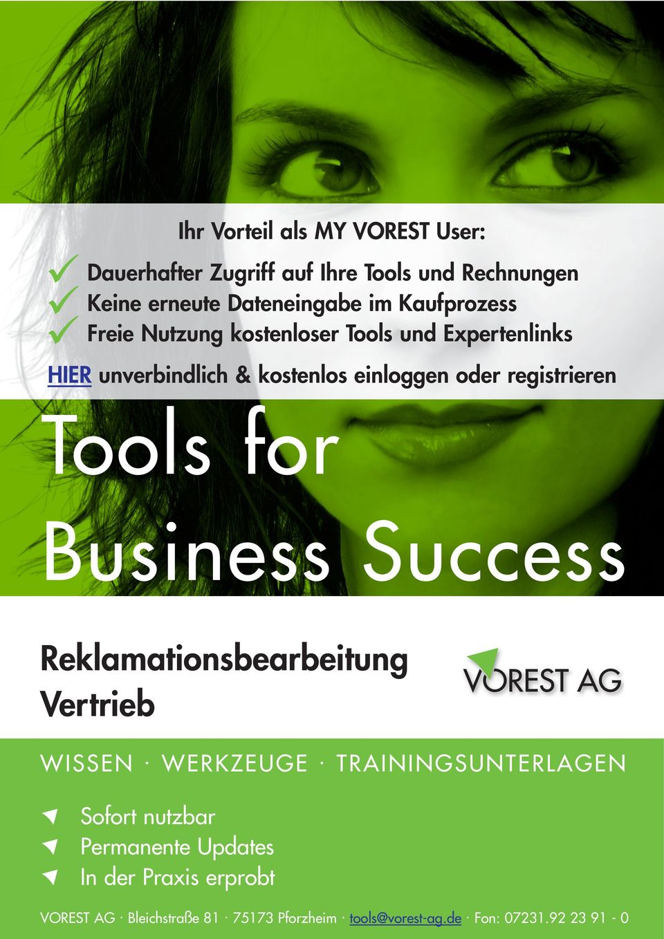 registrieren Tools for Business Success WISSEN. WERKZEUGE.