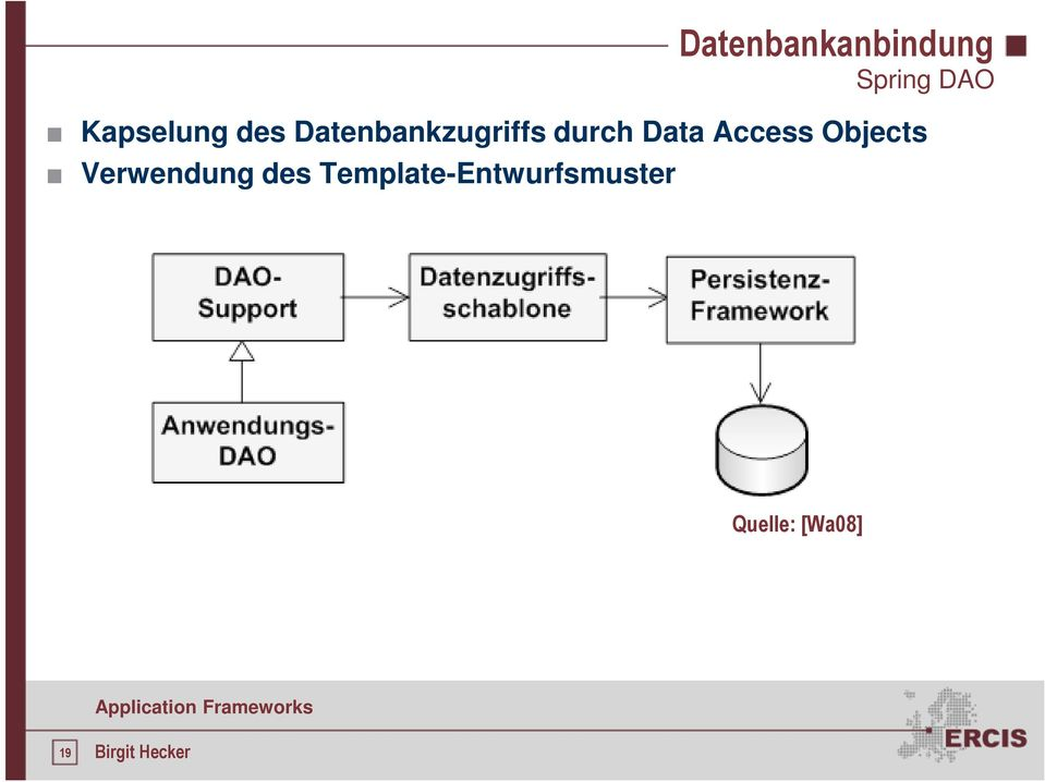 durch Data Access Objects