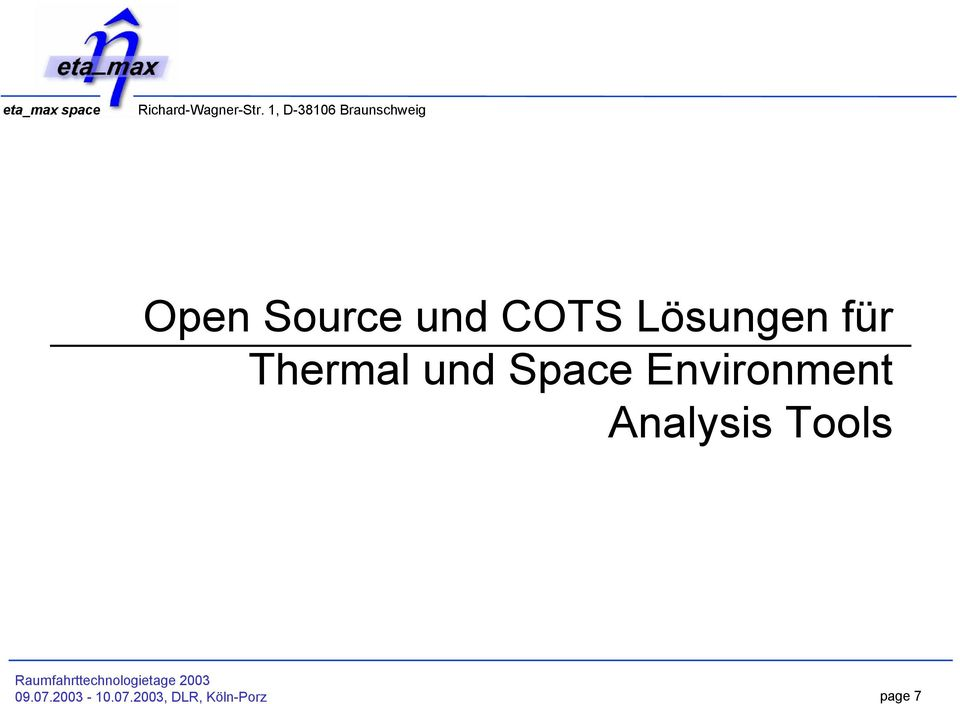 Environment Analysis Tools 09.