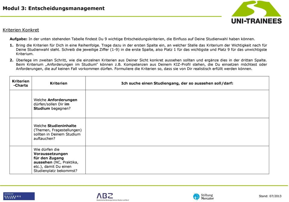 Modul 3 entscheidungsmanagement pdf for Management studium nc