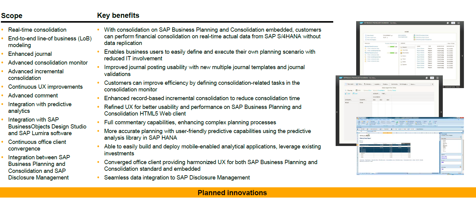 SAP Business Planning and