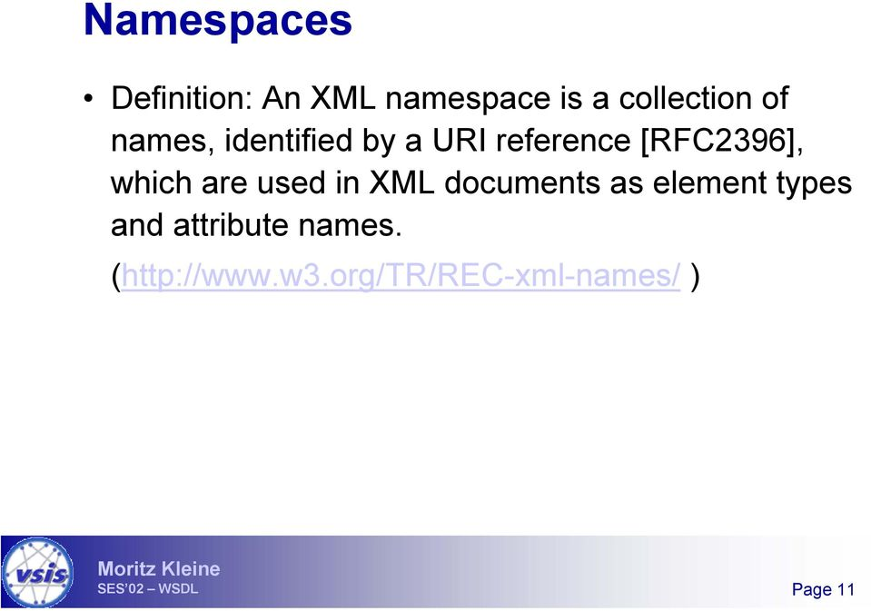 which are used in XML documents as element types and