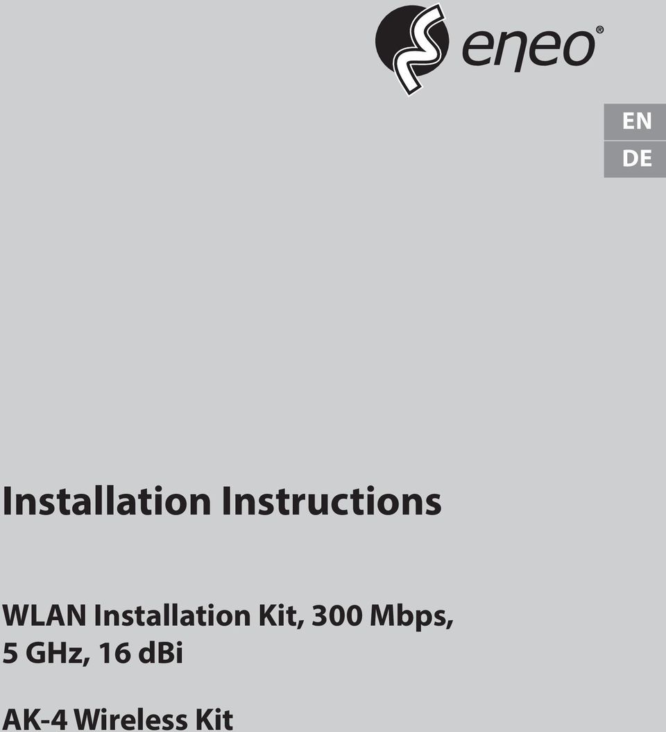 Installation Kit, 300