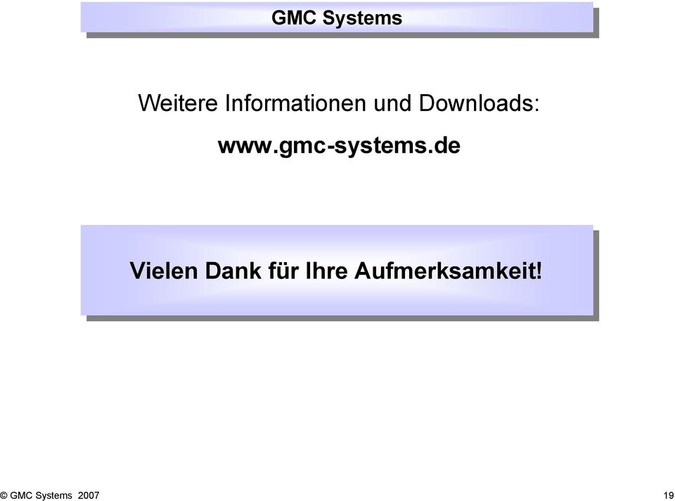 Downloads: www.gmc-systems.