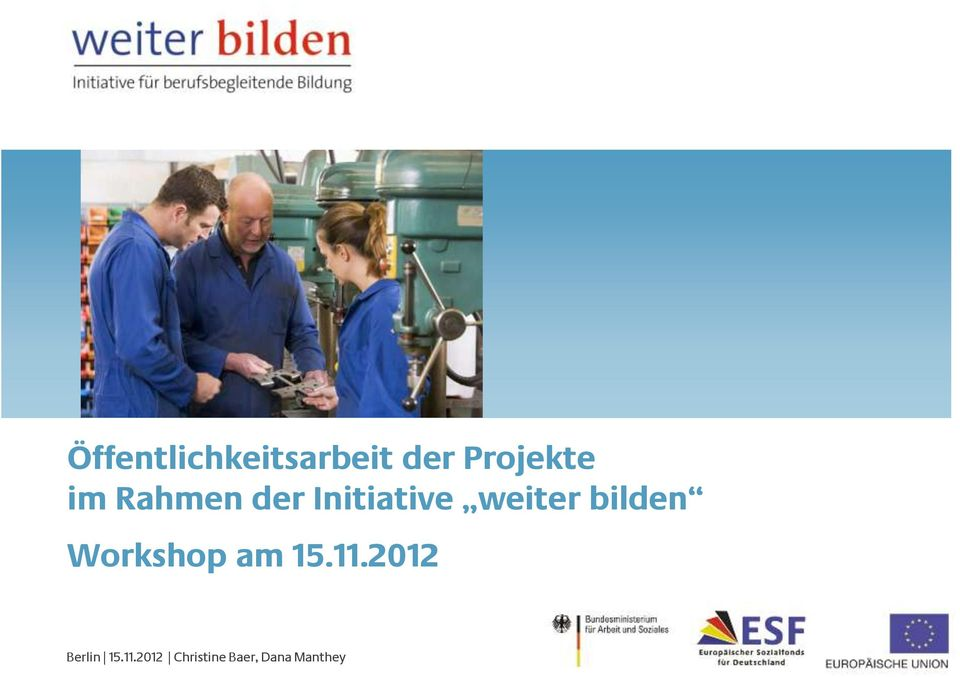 bilden Workshop am 15.11.