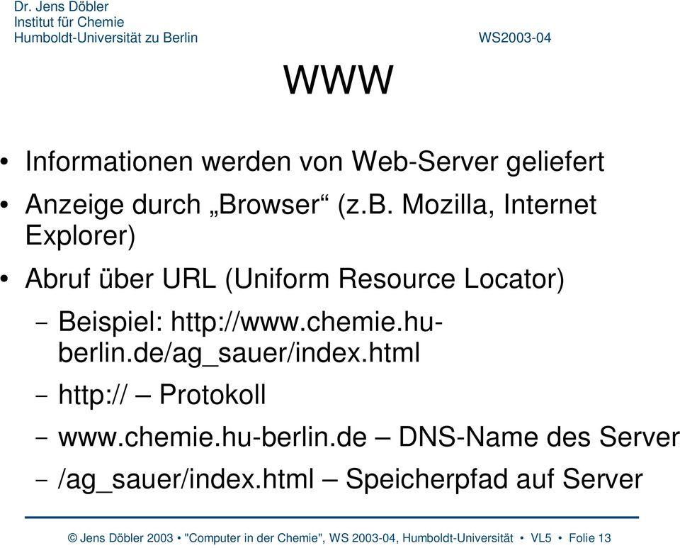 de DNS-Name des Server /ag_sauer/index.