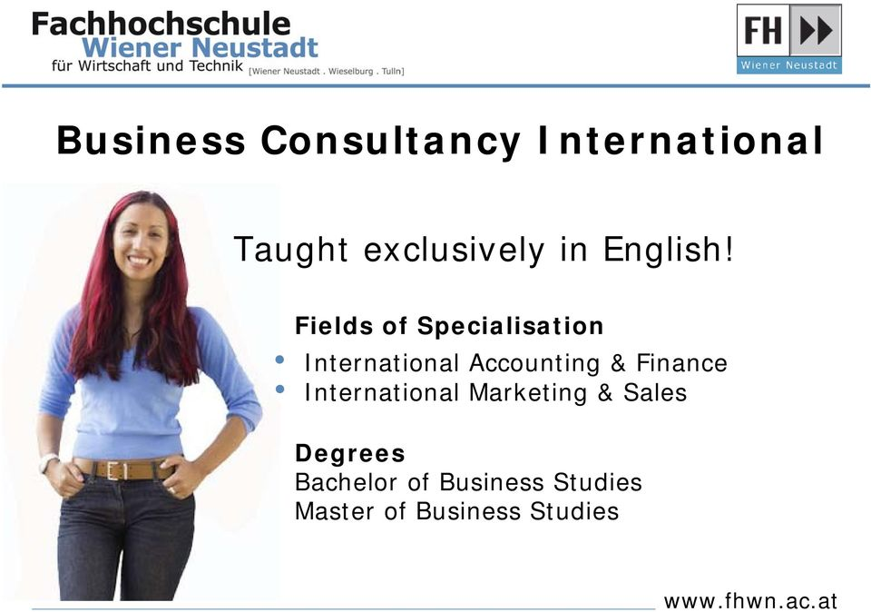 Fields of Specialisation International Accounting &