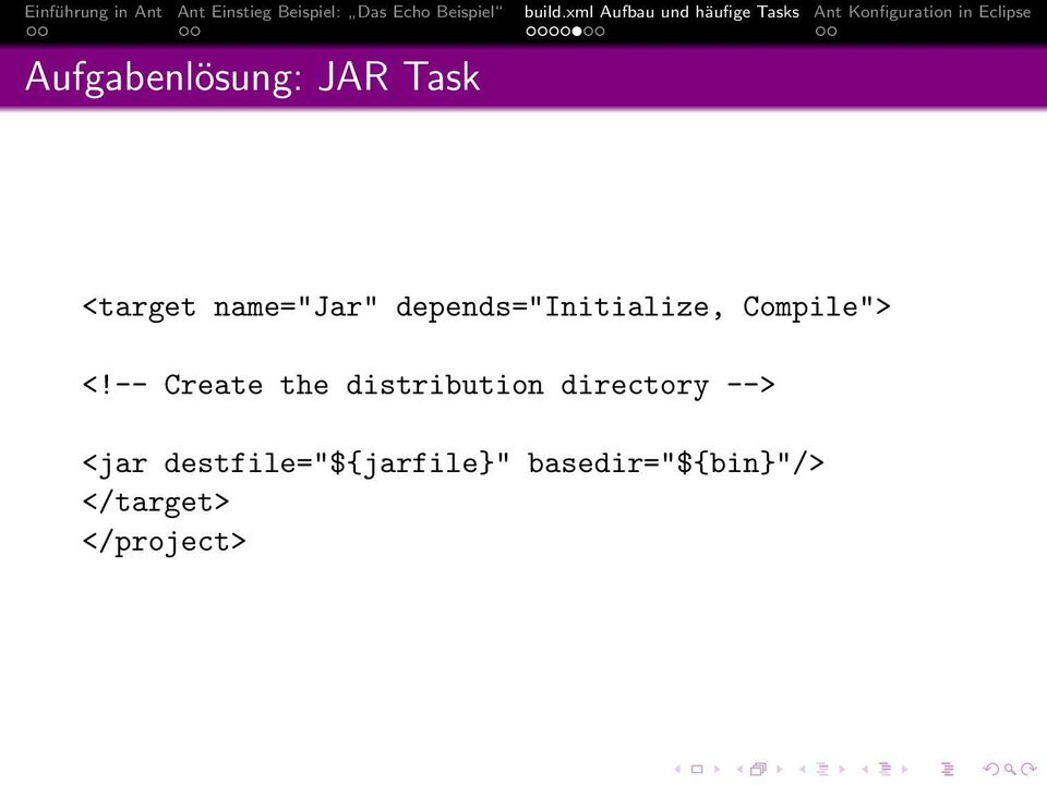 -- Create the distribution directory --> <jar