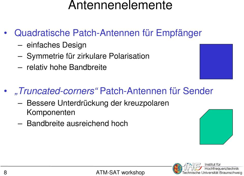 hohe Bandbreite Truncated-corners Patch-Antennen für Sender