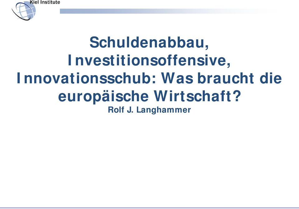 Innovationsschub: Was