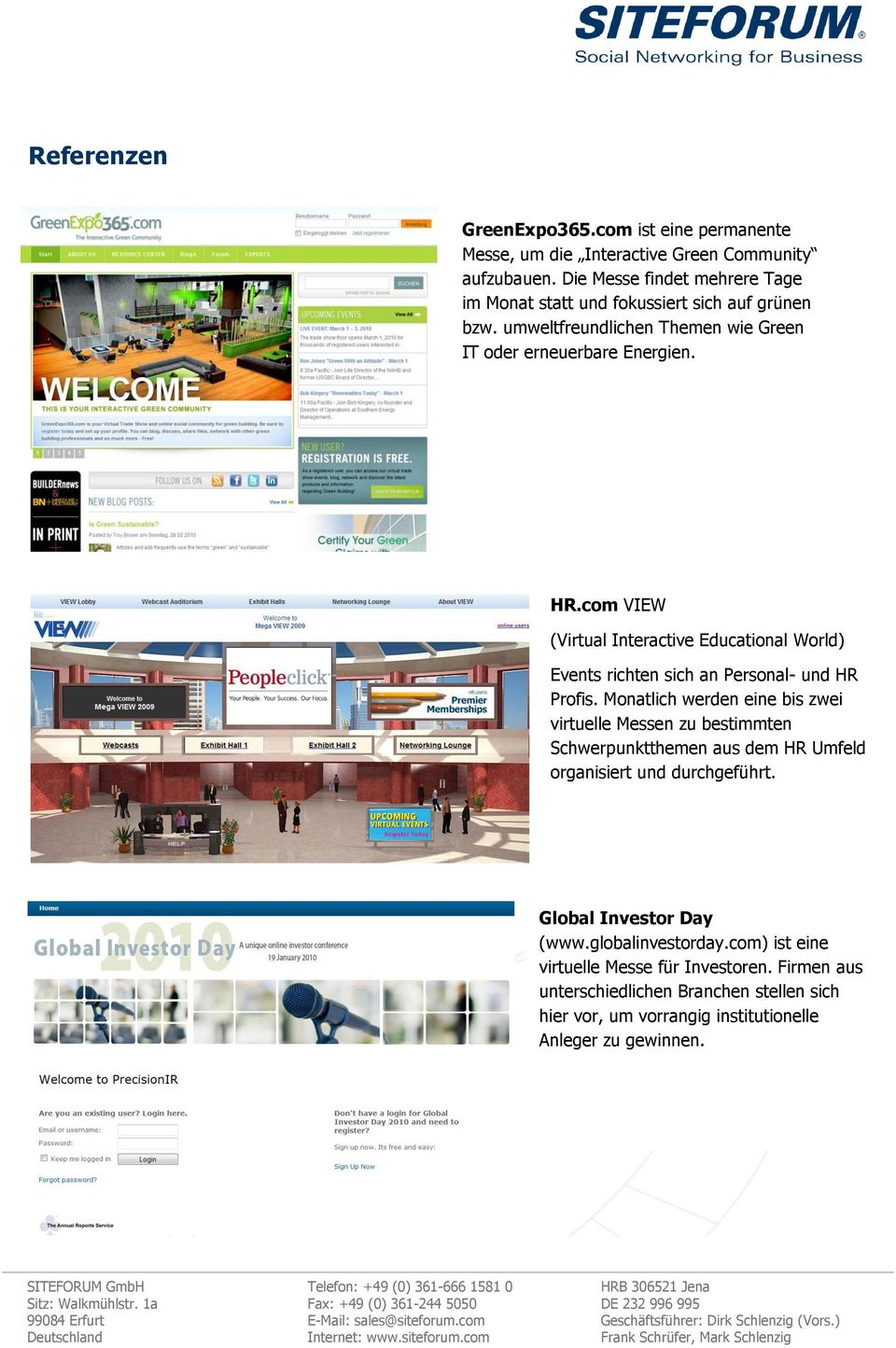 com VIEW (Virtual Interactive Educational World) Events richten sich an Personal- und HR Profis.