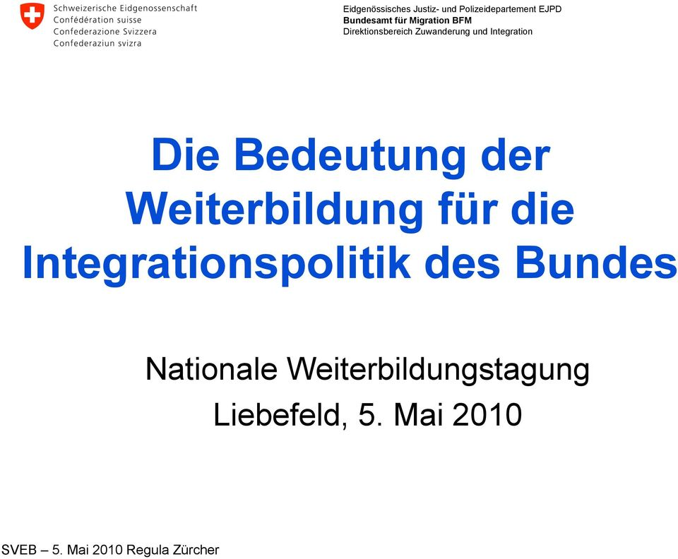 Integrationspolitik des Bundes
