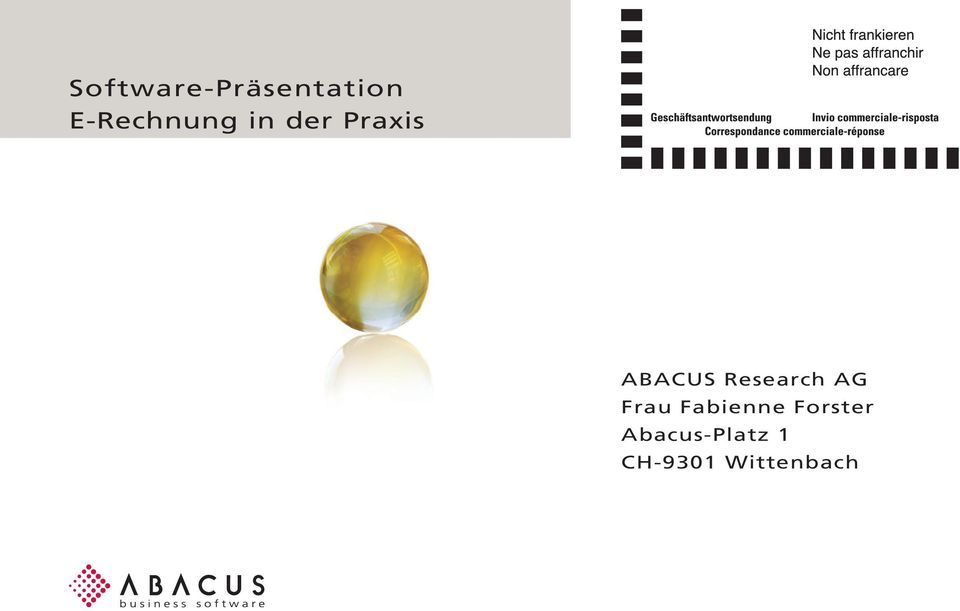ABACUS Research AG Frau