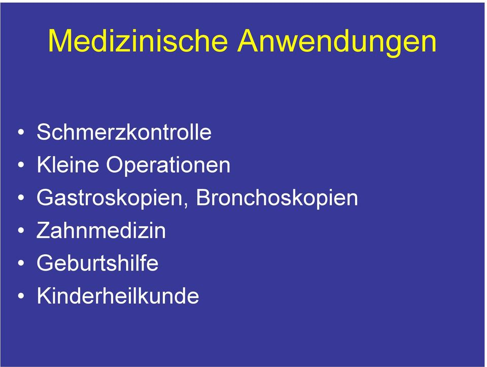 Operationen Gastroskopien,