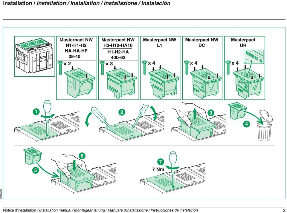 d'installation / Installation manual /