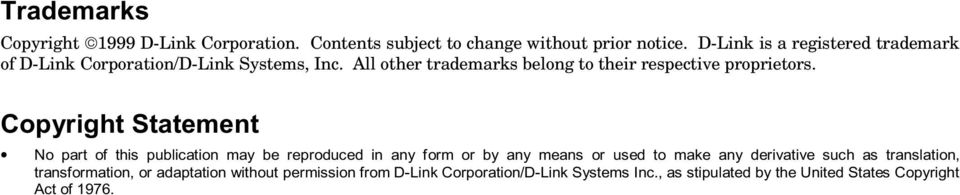 D-Link is a registered trademark of D-Link