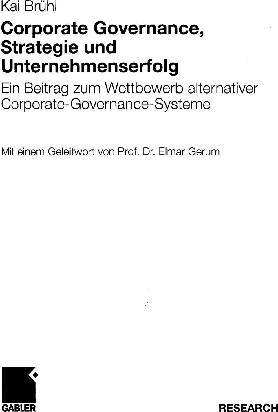 alternativer Corporate-Governance-Systeme it