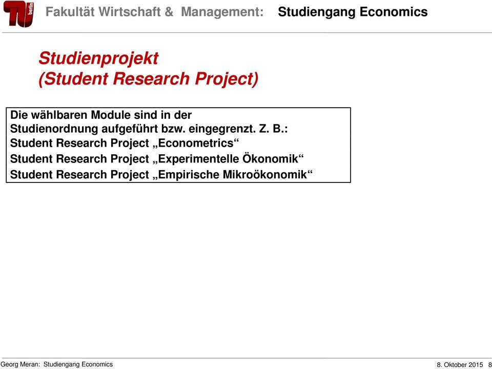 : Student Research Project Econometrics Student Research Project