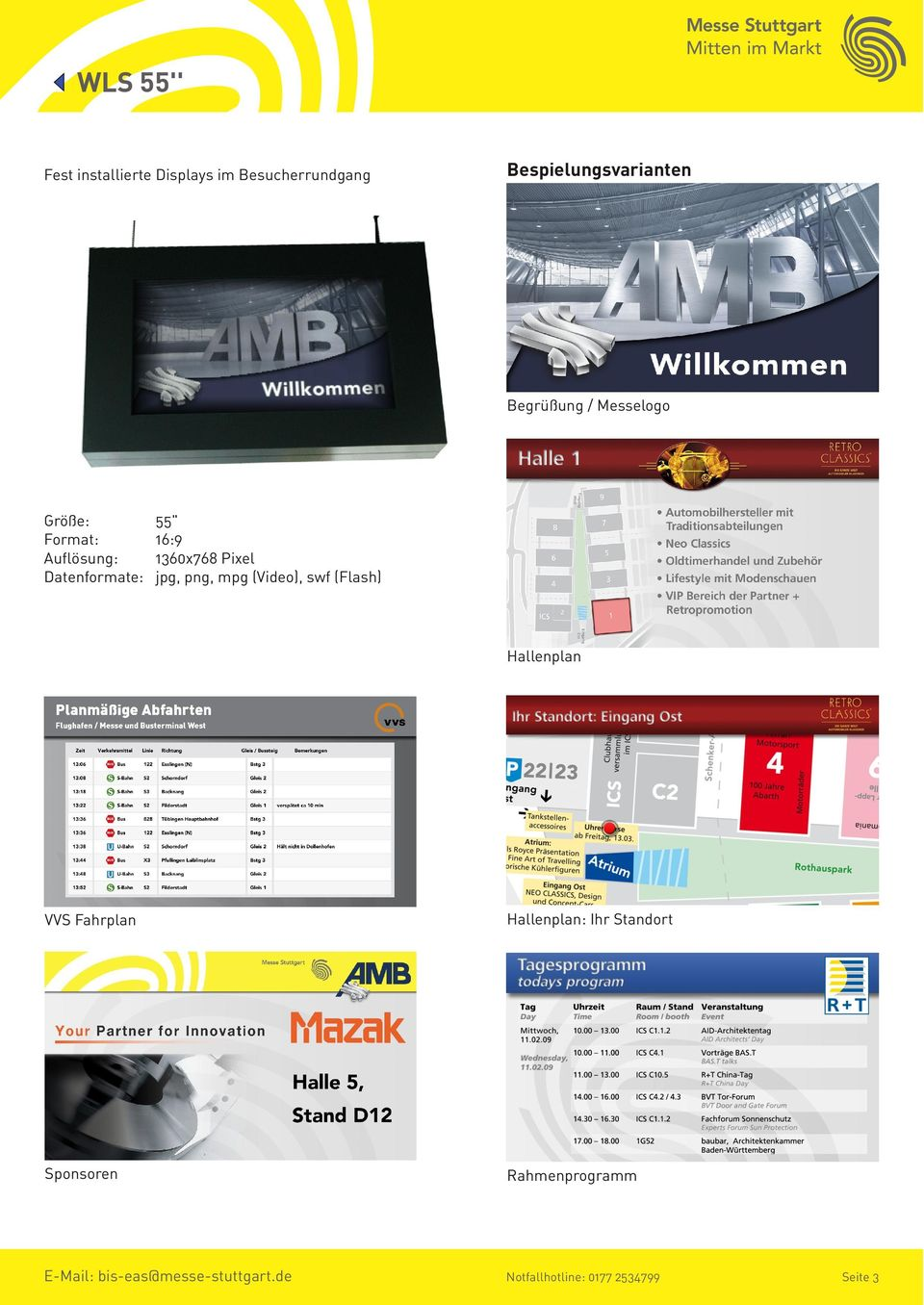 Pixel jpg, png, mpg (Video), swf (Flash) Hallenplan VVS